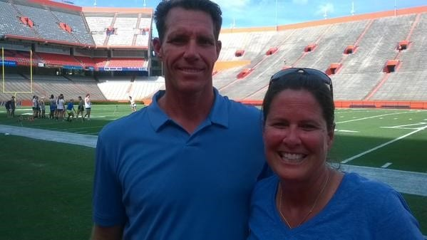 Becky Burleigh Head Coach of the Florida Gators Women's Soccer Team with Bo Hanson Director of Athlete Assessments